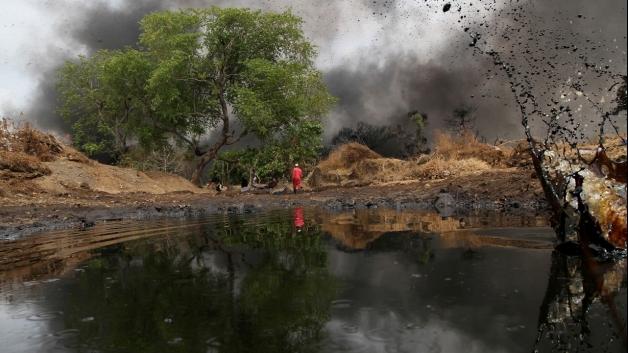 Oil spill in Nigeria