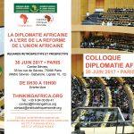 Colloque sur la diplomatie africaine – 30 juin 2017