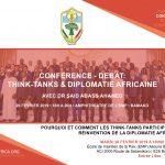 Conférence – Débat: Think-tanks et réinvention de la diplomatie africaine – Bamako, 26 février 2019